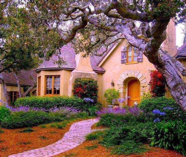 красивый одноэтажный дом с эркером, фото 61