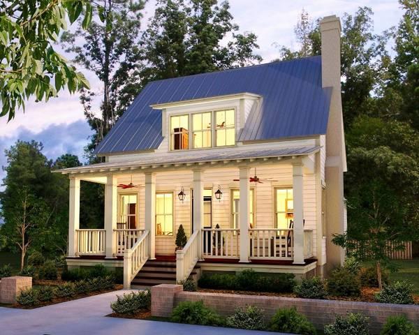 красивые одноэтажные дома с мансардой, фото 60