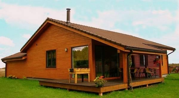 красивые деревянные одноэтажные дома, фото 28