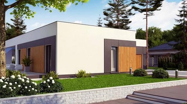 проекты красивых одноэтажных домов с эркером, фото 90