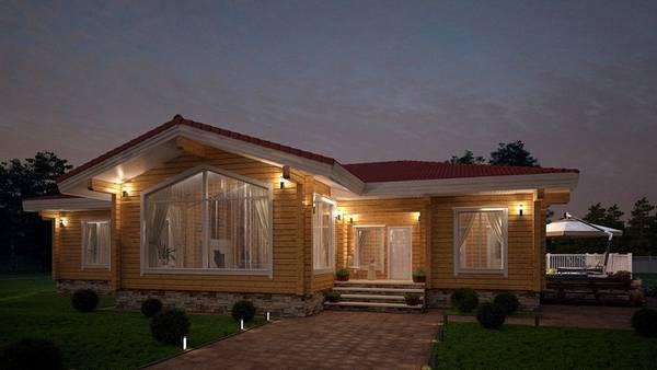 красивые фасады одноэтажных частных домов фото, фото 96