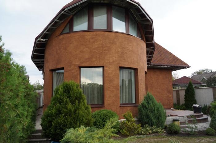 Варианты покраски фасада дома фото