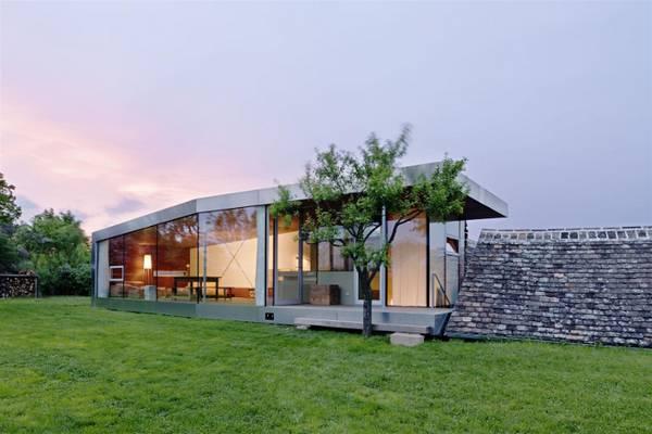 проект красивого одноэтажного дома с большими окнами, фото 87