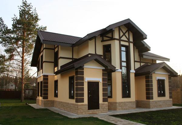 Шикарный дизайн фасада фото