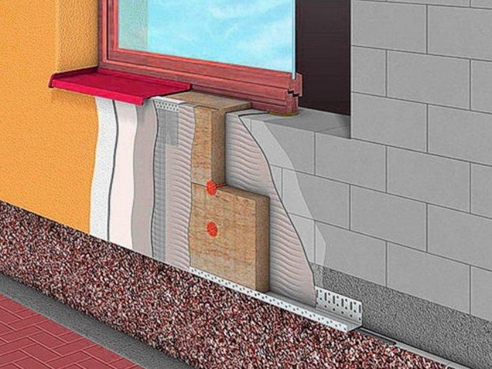 Система мокрый фасад состоит из нескольких слоев
