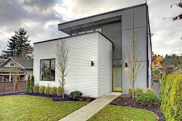 Будинок сучасної архітектури, обшитий фіброцементними плитами. Фото з сайту hepcawareub2.info