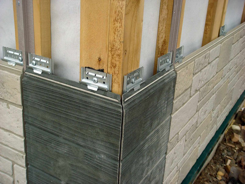 Монтаж цементного сайдинга