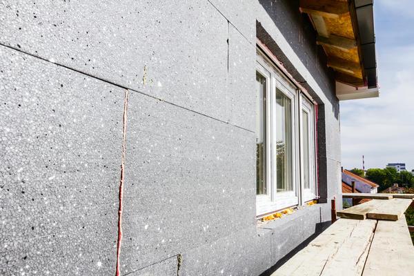 Утеплення стіни блоками з піноскла