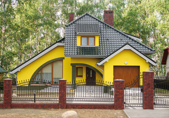 Дизайн фасада частного дома фото